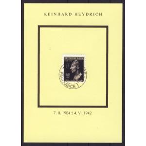 B&M Gedenkblatt Heydrich Nr. 131 gestempelt