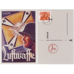 Deutsches Reich Nazi Propaganda Nr. 909 auf Feldpostkarte mit Sonderstempel
