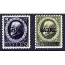 Saargebiet 1920 Freimarken MiNr 30 und 31 (*)