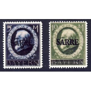 Saargebiet 1920 Freimarken Nr. 30 und 31