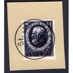 Saargebiet 1920 Freimarke Nr. 30 auf Briefstück gest. St. Ingbert Replica