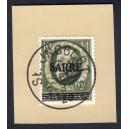 Saargebiet 1920 Freimarke Nr 30 auf Briefstück gest. St. Ingbert Replica