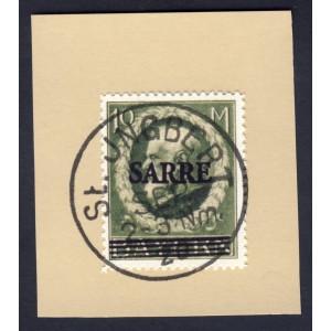 Saargebiet 1920 Freimarke MiNr 31 auf Briefstück gest. St. Ingbert Replica