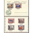 Italia posta aera 1933 Sas.45-50,Nr. 439-44 Crociera Zeppelin carta postale Reprint
