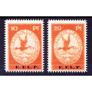 Deutsches Reich 1912 Flugpost Nr. V-VI