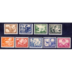 Deutsches Reich 1933 Wagner Nr. 499-507