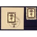 Danzig 1920 kleiner Innendienst MiNr. 32-40 (*)  FÄLSCHUNG