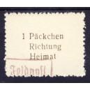 Päckchen-Zulsassungsmarke Kuban Brückenkopf 1943 Nr. 14 Fälschung