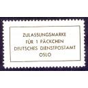Päckchen-Zulsassungsmarke Krim 1943 Nr. 15 Fälschung
